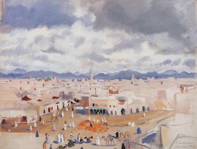 Morocco. Marrakesh Zinaida Serebriakova, 1932 from WikiArt.org by fair sse priniciples, copyright status unknown