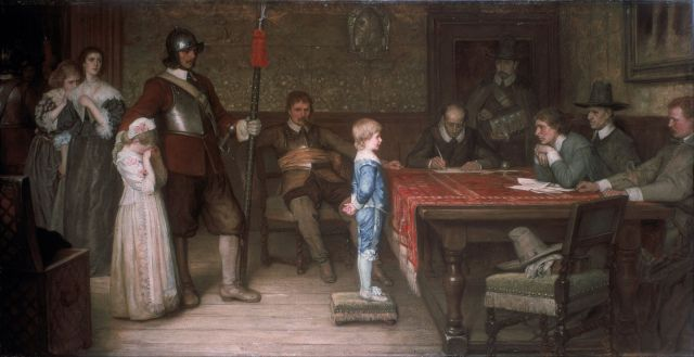 And When Did You Last See Your Father William Frederick Yeames, 1878 oil on canvas, 52 x 99 in The Walker Gallery of Art photo in public domain from Wikimedia.org via the Google Art Project