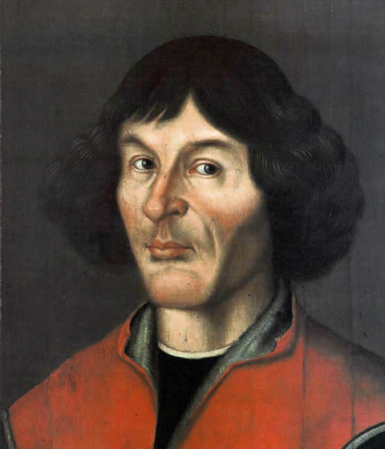 Nicholas Copernicus artist unknown, 1580 tempera and oil on wood Regional Museum, Torun, Poland photo in public domain from Wikimedia Commons, source http://www.frombork.art.pl/Ang10.htm