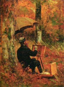 The Artist at His Easel Thomas Worthington Whittedge ,~1891 oil on paper on panel, 12 x 9 in Private collection photo in public domain from  The Anthenaeum