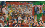 Christ's Entry into Brussels in 1889 James Ensor, 1888 oil on canvas,100 x 170 in. Getty Center, Los Angeles © 2014 Artists Rights Society (ARS), New York / SABAM, Brussels