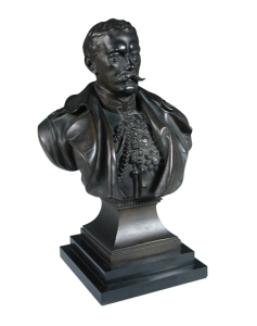 Lord Kitchener Richard Belt bronze bust, reduced 14.5 in high Listed for auction at The Saleroom.com (accessed 9/20/15)