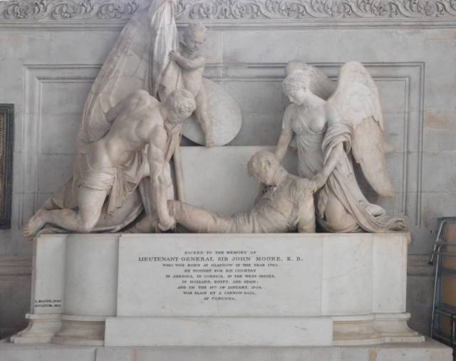 Monument to Lieutenant-General Sir John Moore, K.B. John Bacon, Jr, St. Paul's Cathedral, London photo courtesy of George P. Landow and the Victorian Web