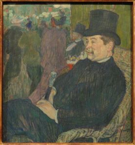 Portrait of Monsieur Delaporte in the Jardin de Paris Henri de Toulouse-Lautrec, 1893 painting Ny Carlsberg Glyptotek - Copenhagen photo in public domain from Wikimedia Commons