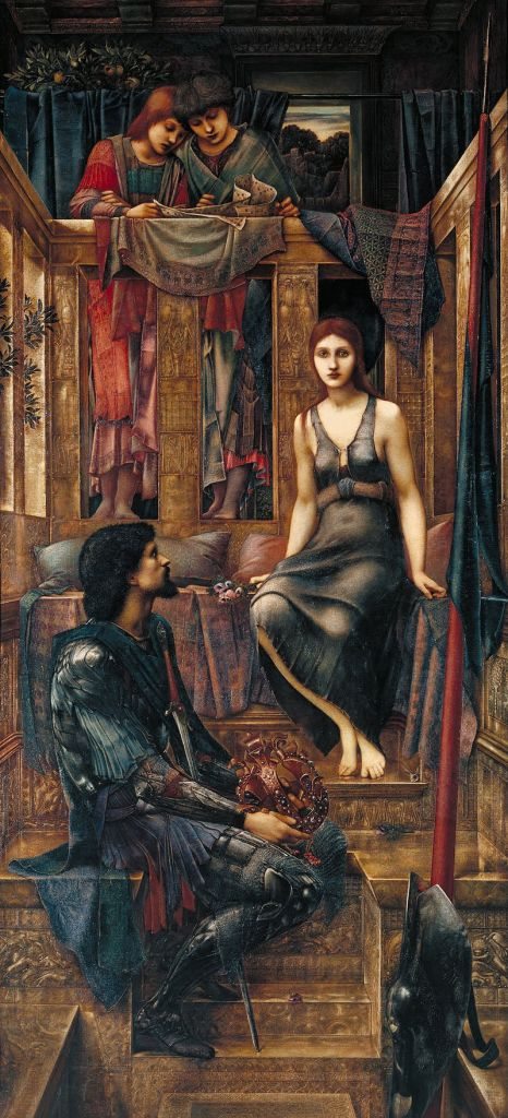 King Cophetua and the Beggar Maid Edward Burne-Jones, 1884 oil on canvas 1155 x 535 in Tate Britain, London photo in public domain from Google Cultural Institute via Wikimedia Commons