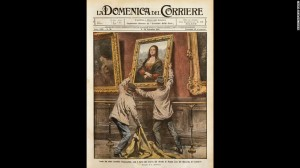 Theft of the Mona Lisa. Achille Beltrame from La Domenica del Corriere, 3rd-10th September 1911. (Photo by DeAgostini/Getty Images) from CNN.com