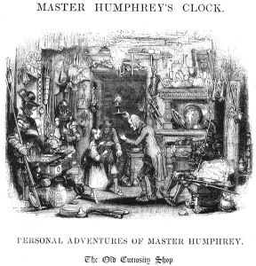 The Old Curiosity Shop Opening Illustration George Cattermole wood block print in magazine Master Humphrey's Clock, Image from the Victorian Web