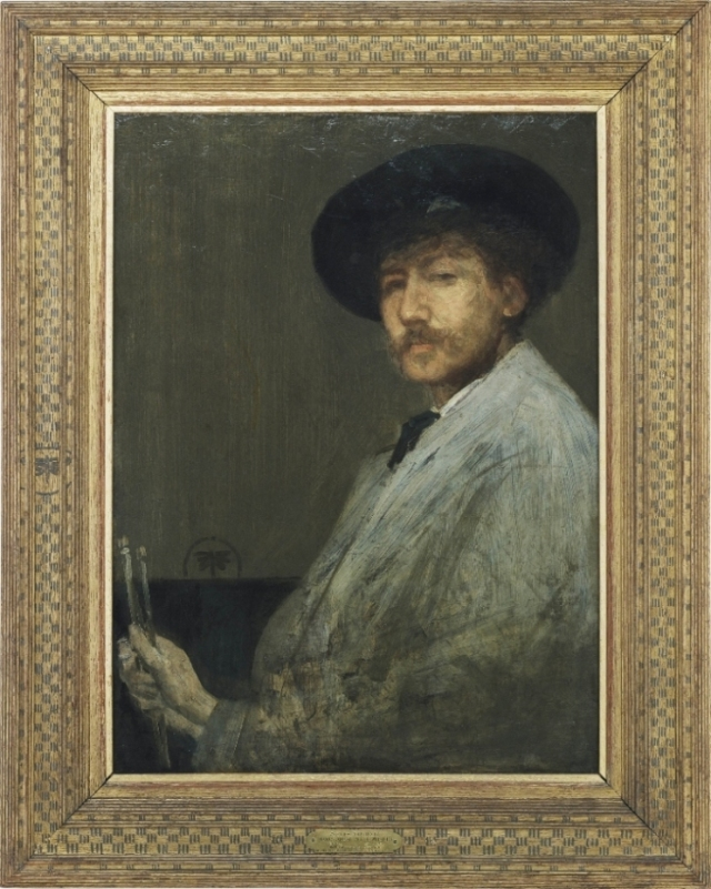 Arrangement in Grey: Portrait of the Painter James McNeill Whistler, ~1872, oil on canvas, 30 x 21 in Detroit Institute of Art photo in public domain from National Endowment for the Humanities