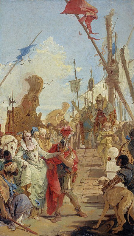 The Meeting of Antony and Cleopatra Giovanni Battista Tiepolo oil on canvas, 27 x 15 in National Gallery of Scotland