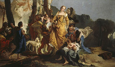 The Finding of Moses Giovanni Battista Tiepolo, circa early 1730s painting, 81 x 133 in National Gallery of Scotland
