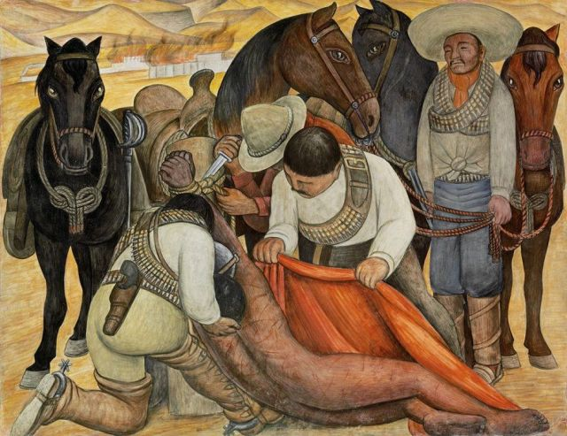 Liberation of the Peon Diego Rivera, 1923, 1931 fresco, 73 x 94 in The Philadelphia Museum of Art © 2014 Banco de México Diego Rivera Frida Kahlo Museums Trust, Mexico, D.F. / Artists Rights Society (ARS), New York photo courtesy of www.diegorivera.org