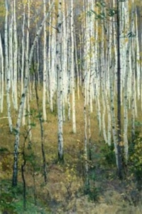 Birch Grove Alexey Gritsay oil on canvas, 36 x 24 in photo from artlib.ru