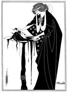 The Dancer's Reward Aubrey Beardsley, 1894 plate from Oscar Wilde's Salome photo from The Victorian Web