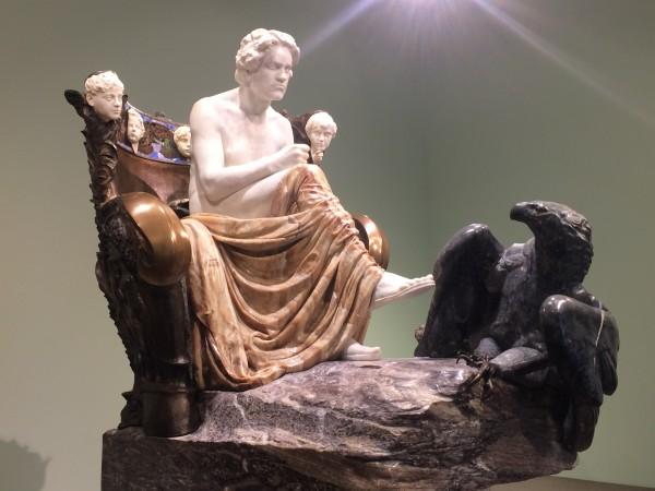 Beethoven Max Klinger, 1902 marble, alabaster, amber, bronze, ivory Museum der bildenden Künste Leipzig photo by Henning Høholt from Kulturkompasset.com.