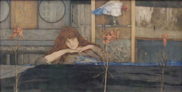 I Lock My Door Upon Myself Fernand Khnopff, 1891 oil on canvas Neue Pinakothek, Munich photo by Yelkrokoyade via Wikimedia Commons