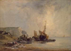 Boats near the Shore of Normandy Richard Parkes Bonington, 1823-24 oil The Hermitage