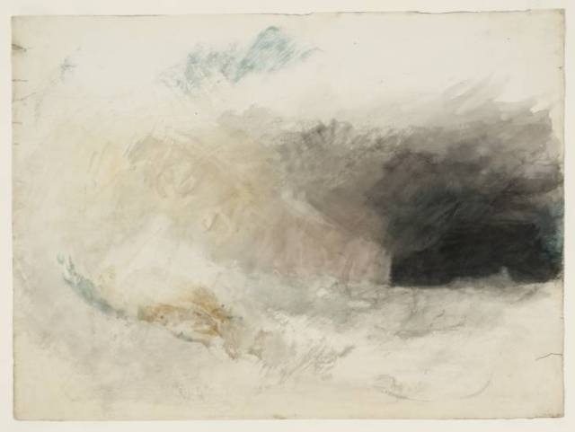 The Longships Lighthouse, Land's End, from the North-East Joseph Mallord William Turner, ~1834 watercolor on white wove paper, 11 x 17 in The Tate, London